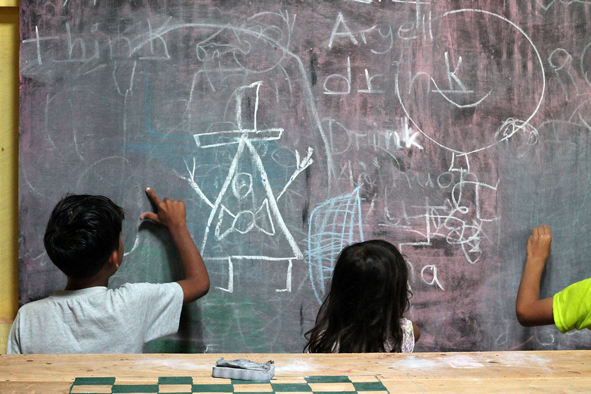 Childs Drawing on the Board